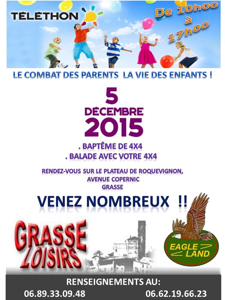 telethon 2015 grasse loisirs club eagleland