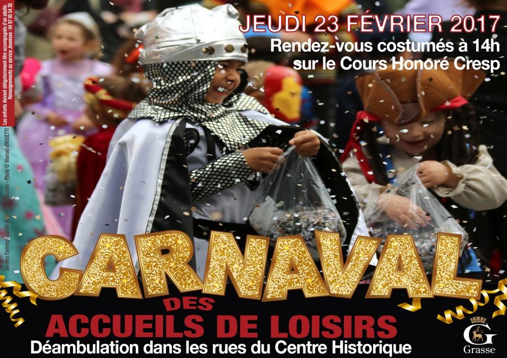 Affiche carnaval des accueil de loisirs fev 2017