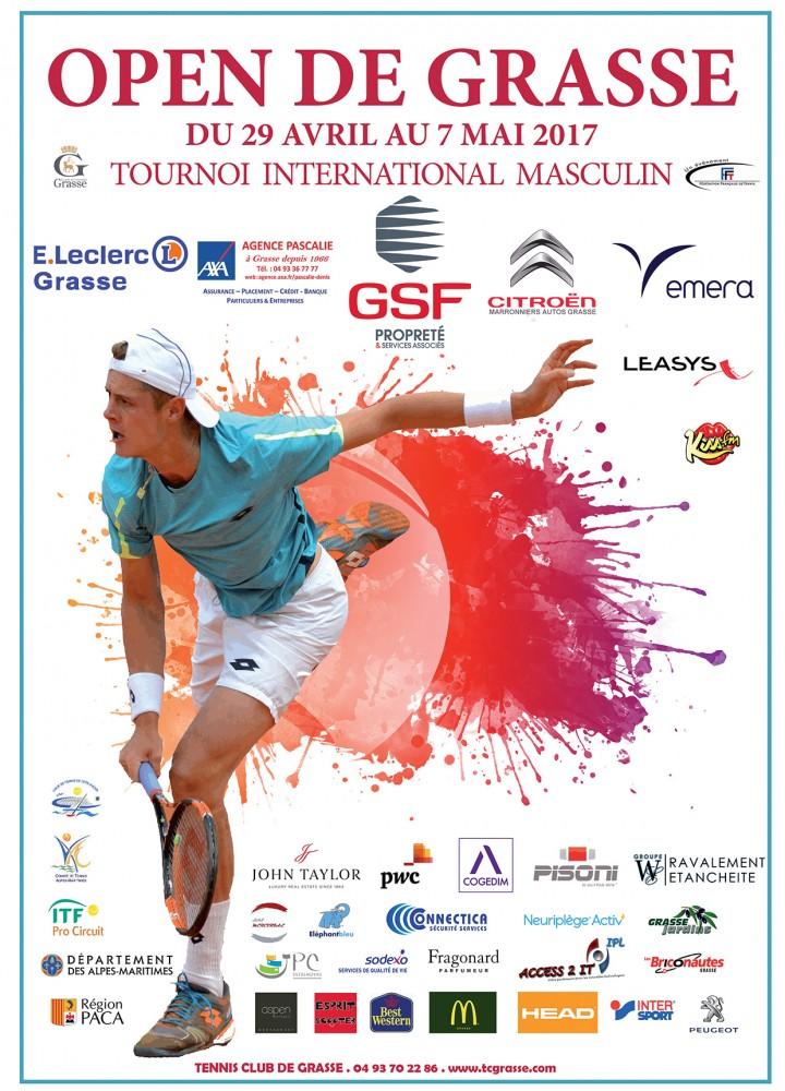 AFFICHE ATP 2017 Open de Grasse OFFICIEL