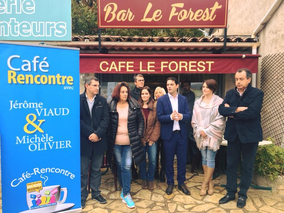 Café-rencontre au Tignet aux cotés de Michèle Olivier 01