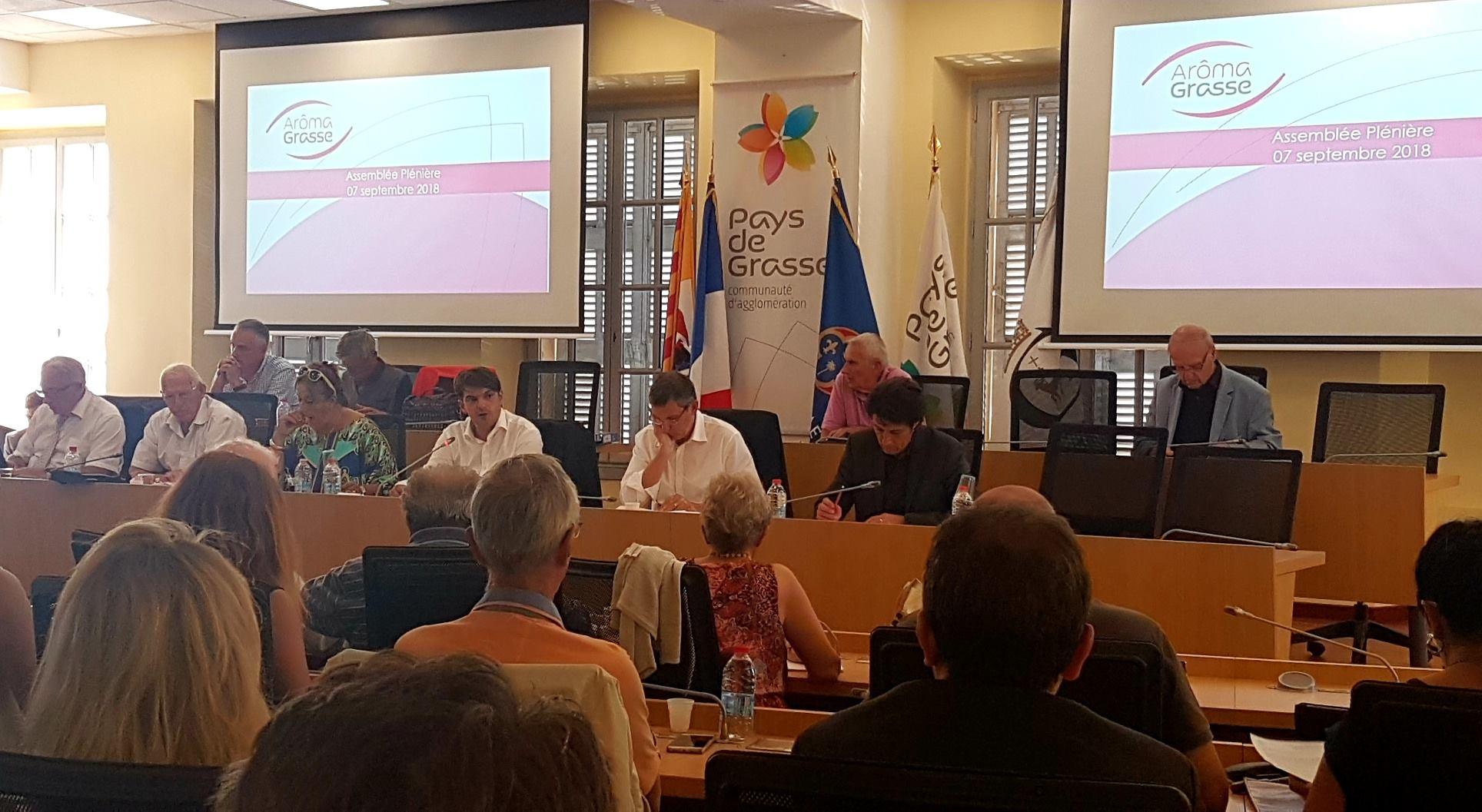 Bilan avec les élus communautaires de l'opération Aroma Grasse 02