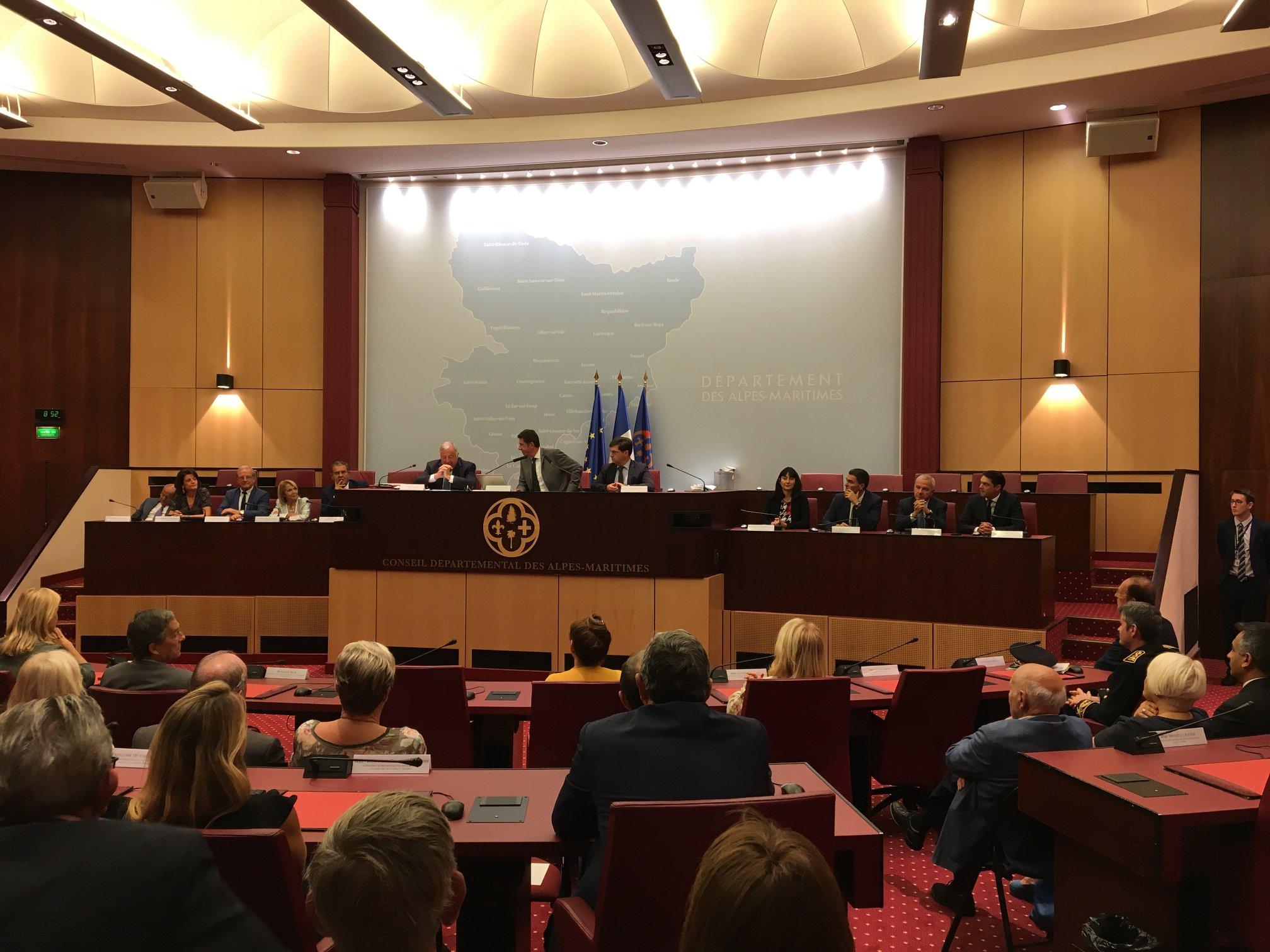 Visite de Gérard Larcher au Conseil Départemental des Alpes Maritimes 02